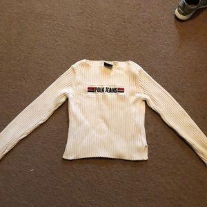 Ralph Lauren polo jeans cream sweater